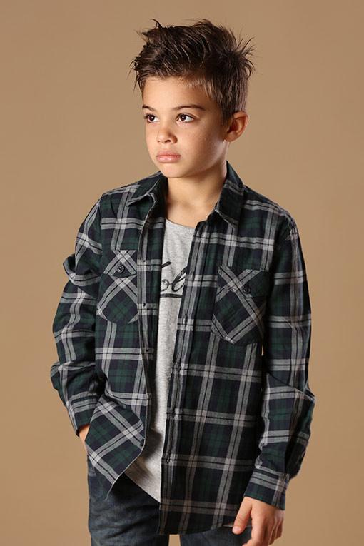 设计师品牌男童衬衫