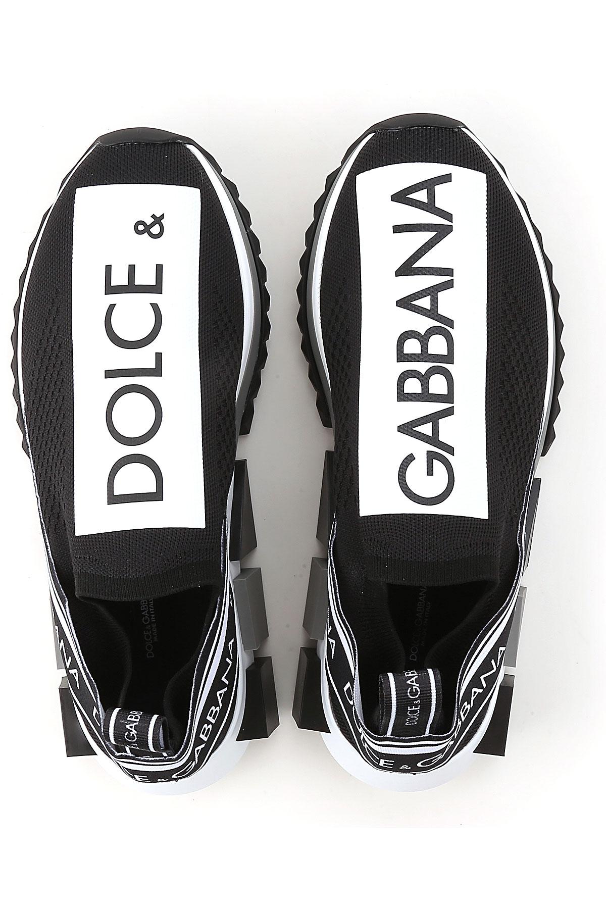 Zapatos Gabbana Dolce Blanco amp; 2019 verano Primavera Negro Hombres Para Eq5Owpr5