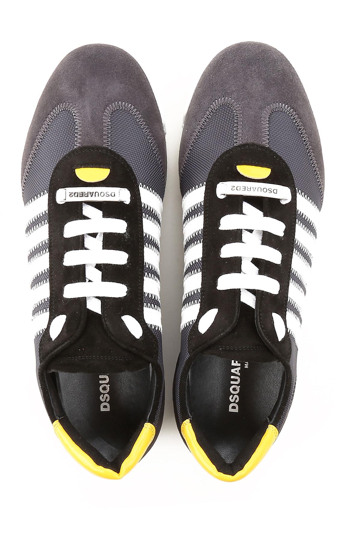 Hombres Amarillo Primavera Dsquared verano Negro 2019 Zapatos Para UxOxEwZv