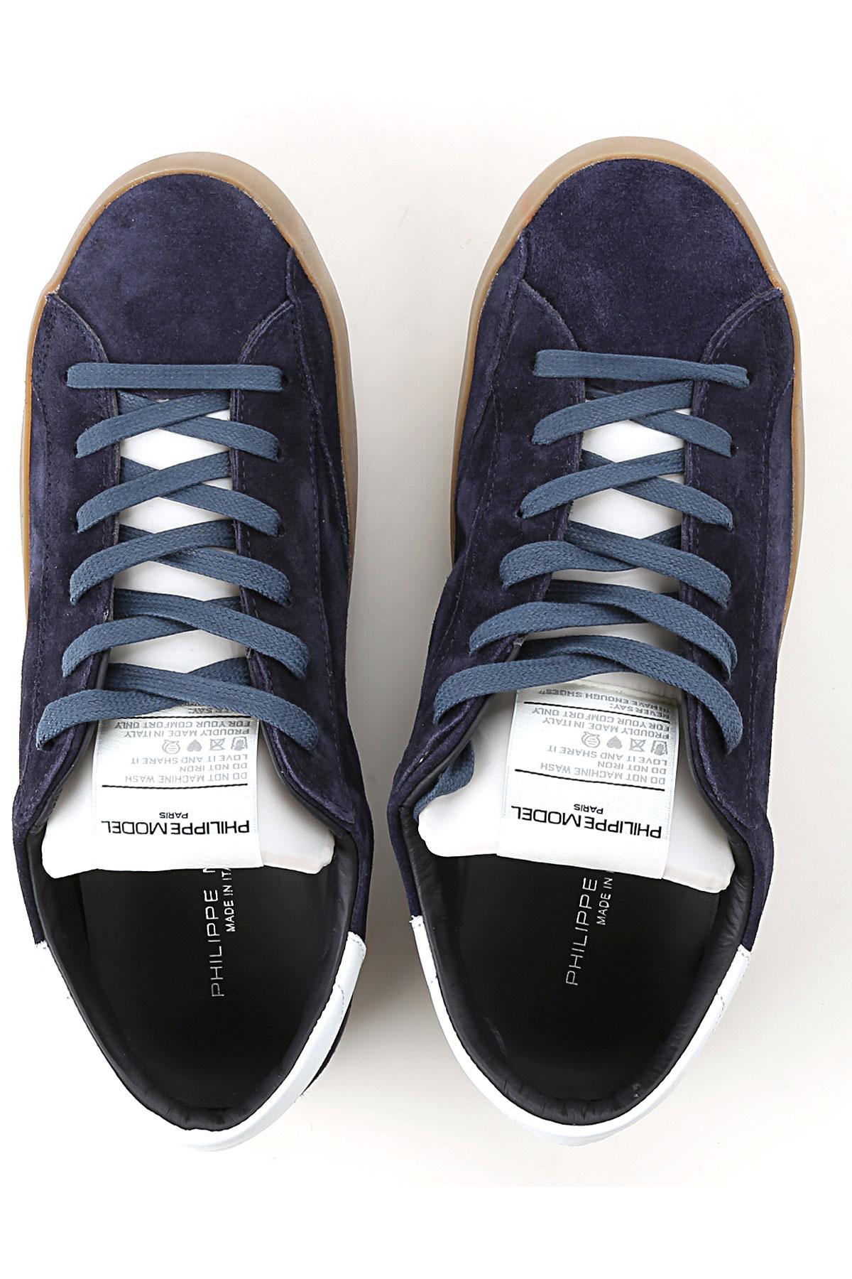 Zapatos 2018 Para Azul Blanco invierno Model Philippe Otoño 19 Hombres 4wfqfSZx