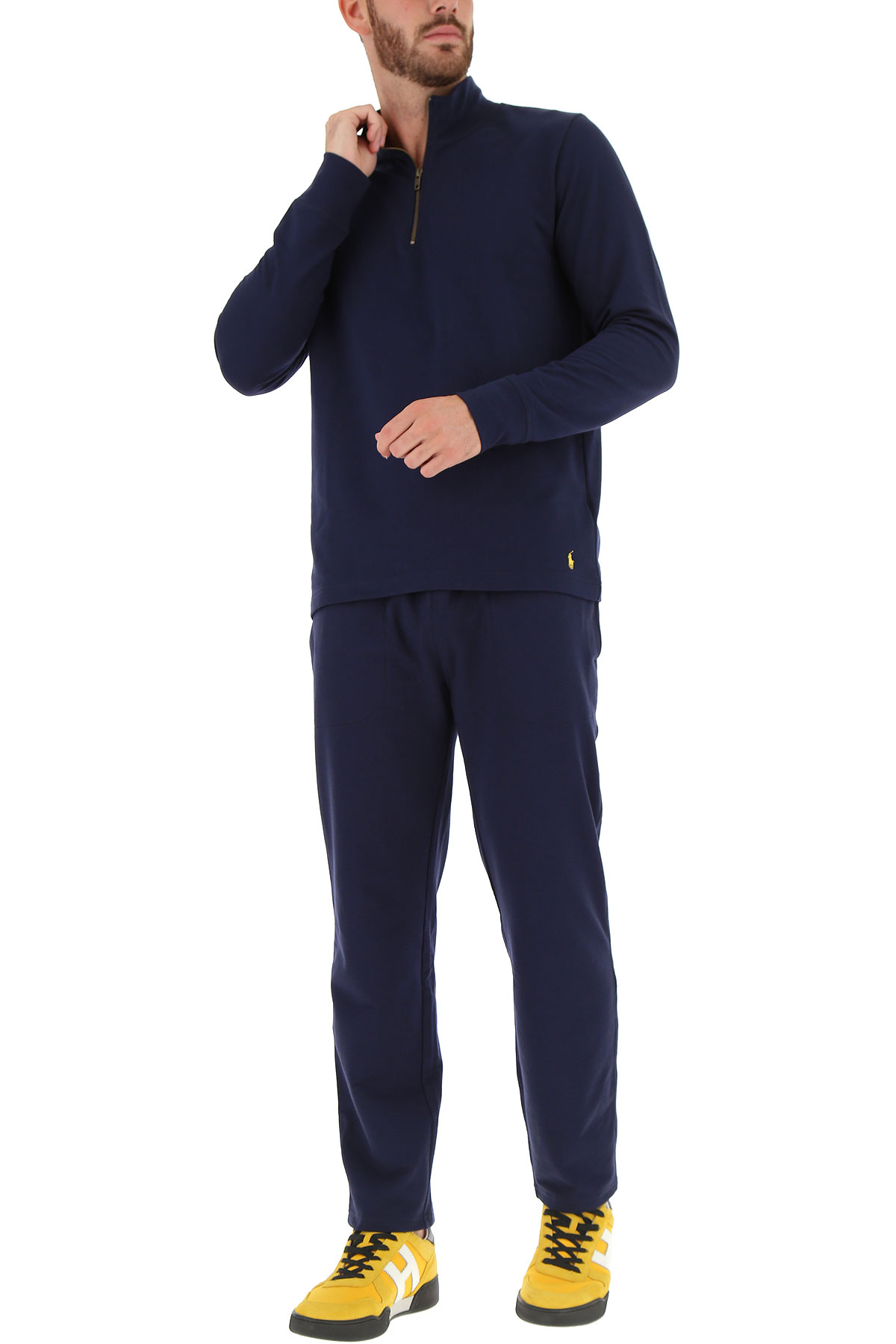 Ralph 19 Amarillo Hombres Azul Marino Ropa invierno Lauren Para 2018 Otoño wgPwpqr