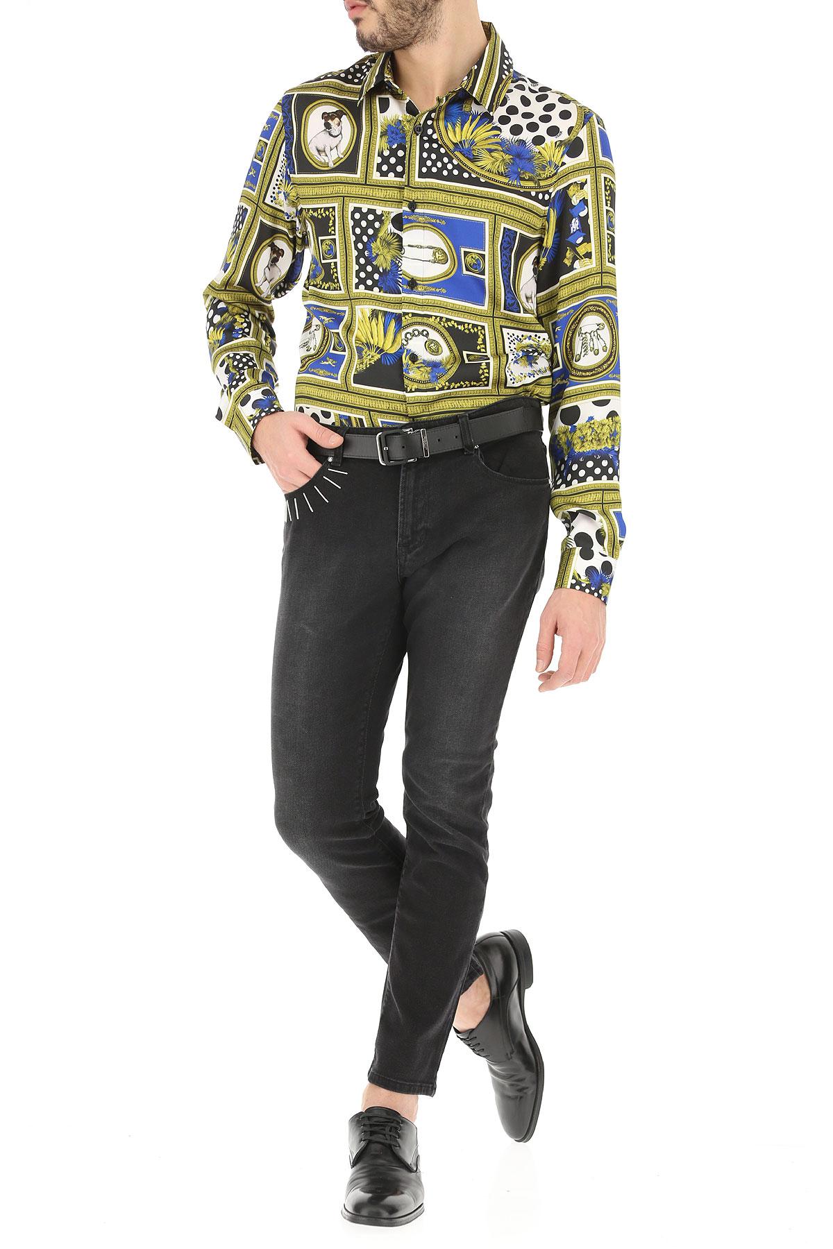 Azul dorado 2019 Versace Oro Para Hombres verano Primavera Ropa wwW7Rq81