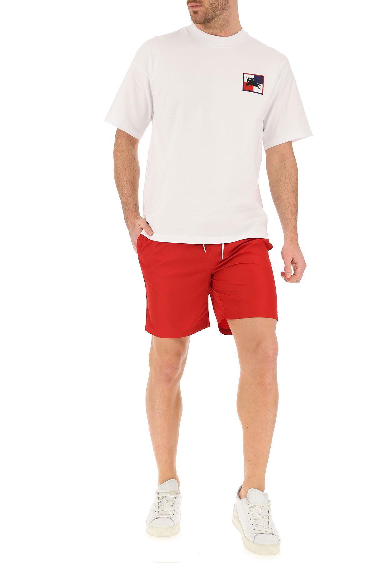 Blanco Rojo Ropa Hombres 2019 Primavera Para Burberry verano 6nqf7H7v