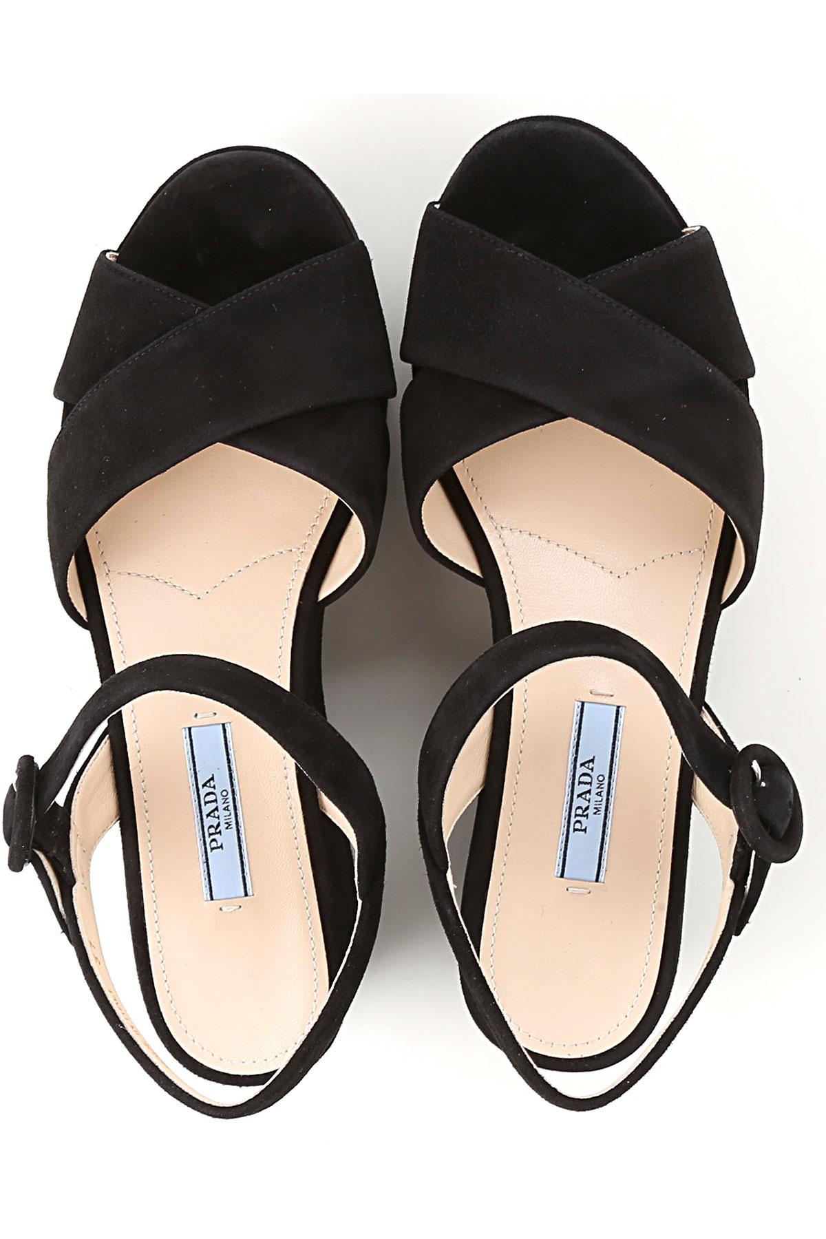 Zapatos Mujer verano Negro nbsp; Primavera Prada Para 2019 1HFqwgwxd