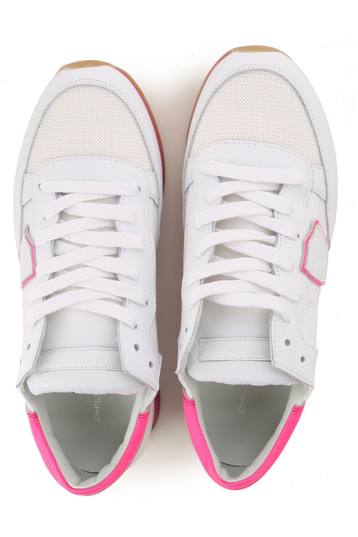 Philippe Mujer Model Zapatos Fluorescente Primavera Blanco 2019 Fucsia verano Para rxrfwRqp