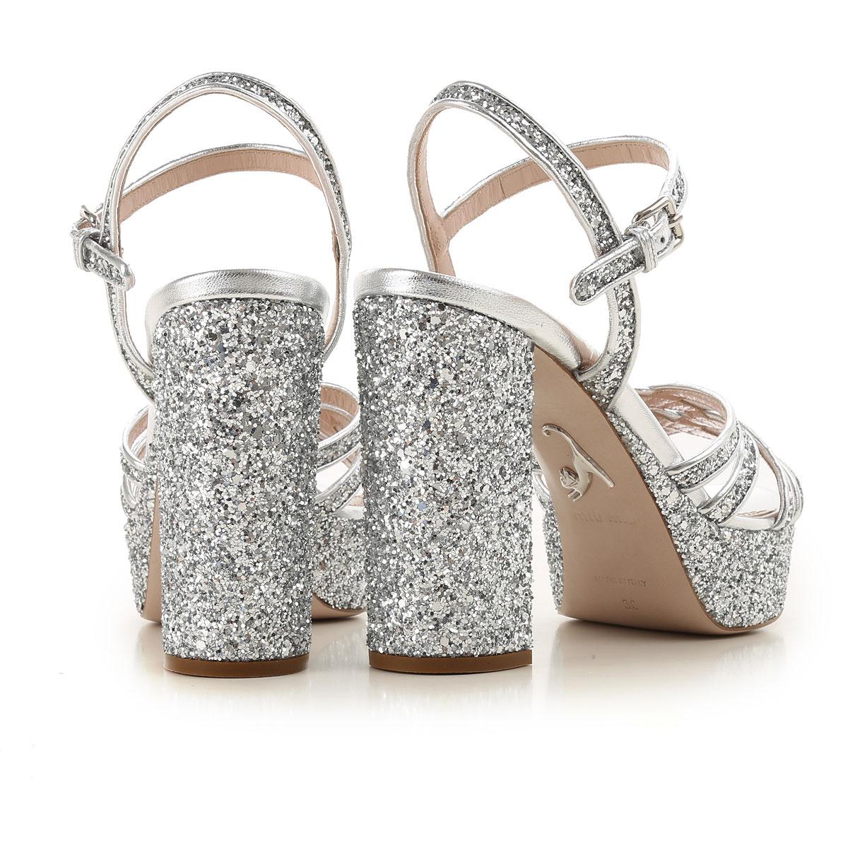 Primavera Plata Para Mujer verano Miu 2019 nbsp; Zapatos YxCqg48wt