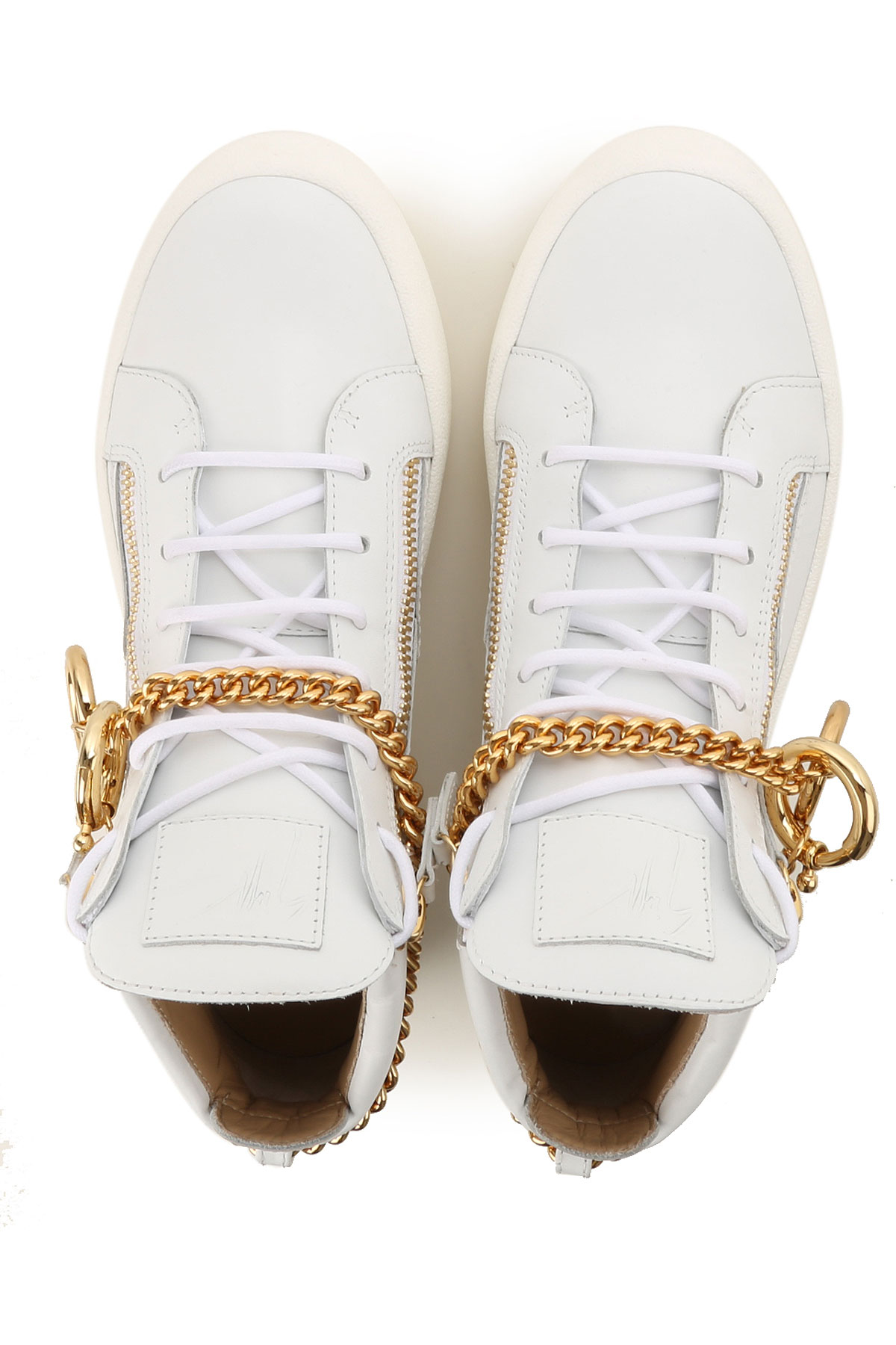 Oro Zapatos Zanotti Hombres Giuseppe dorado Primavera Blanco Para verano 2019 8UpFqw