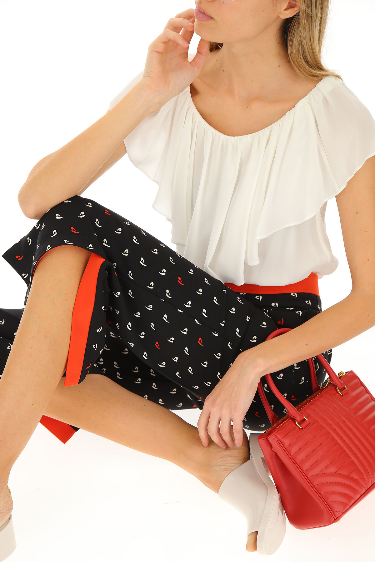 Primavera nbsp;blanco Ropa Pinko 2019 Rojo Mujer Negro Para verano RCFtqxwC