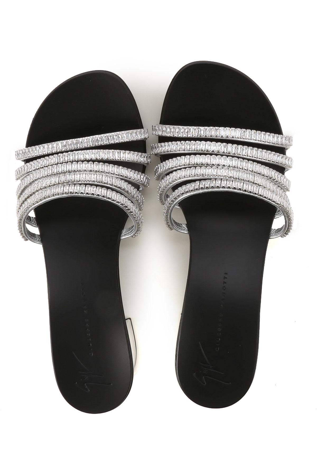 Zapatos 2019 verano Zanotti Plata Para Primavera Giuseppe Negro Mujer 5SqgxYwwX