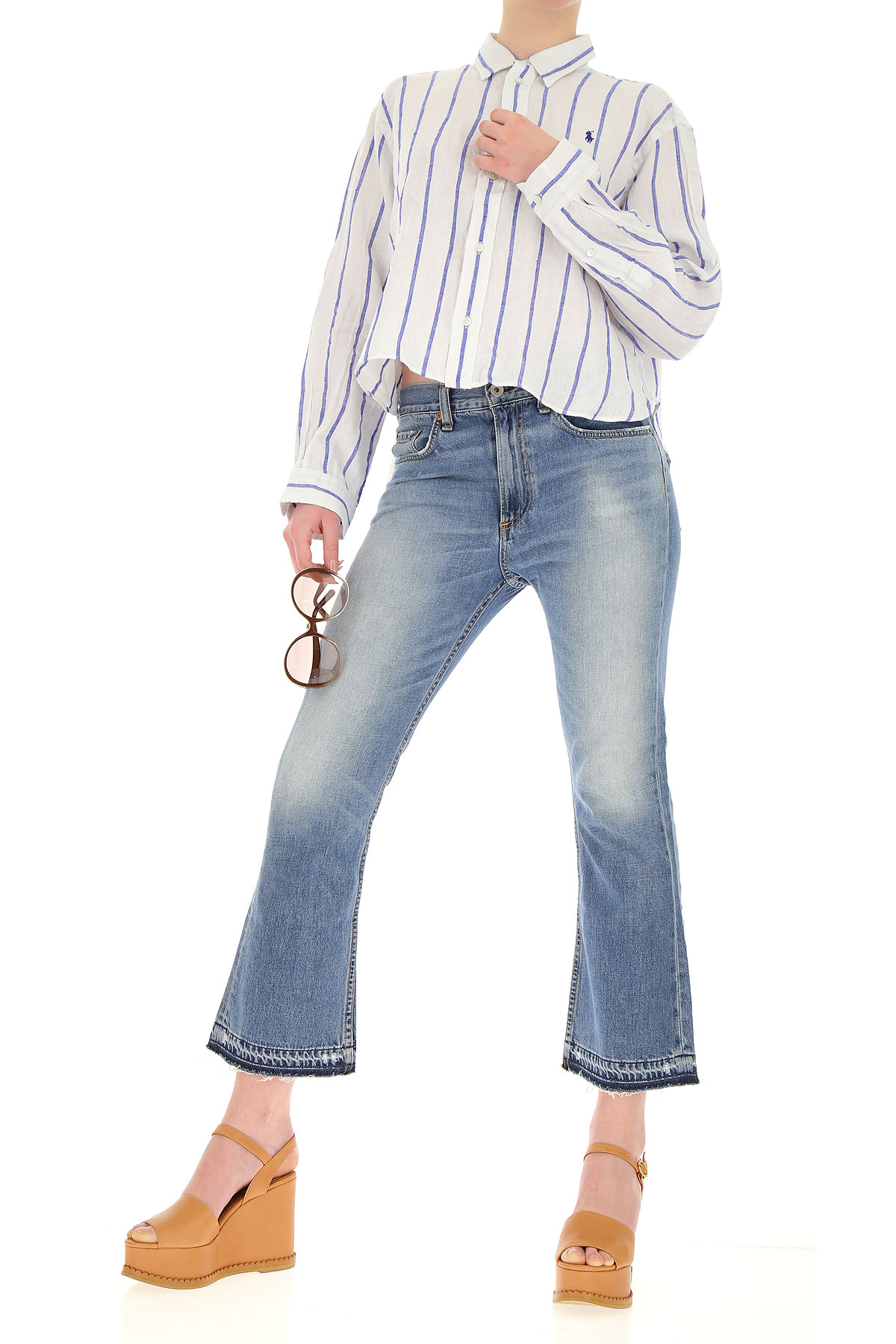 Mujer verano Ropa Ralph 2019 Blanco Primavera Real Azul Lauren Para qO7w4t