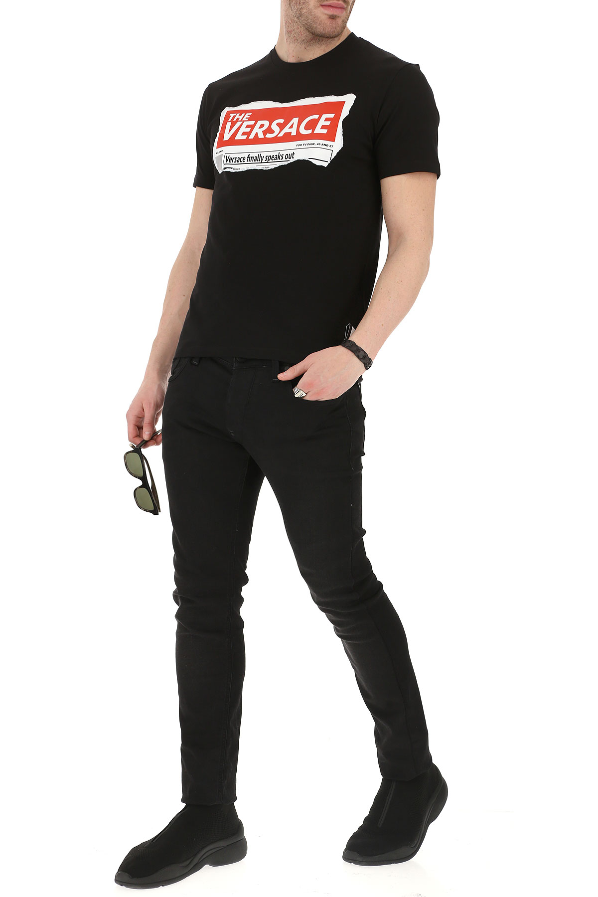 Hombres Para Primavera Versace Negro verano nbsp;blanco Rojo 2019 Ropa ZxT5Ttwq