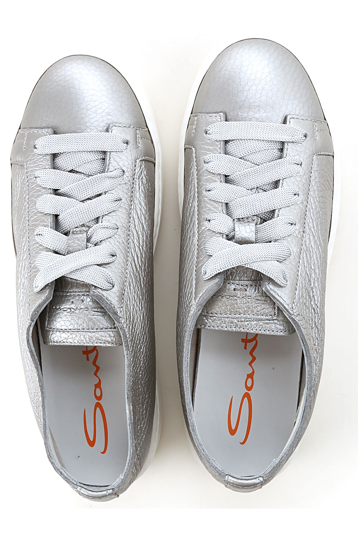 Para Zapatos Santoni 2019 Plata Mujer verano nbsp; Primavera BOzq6