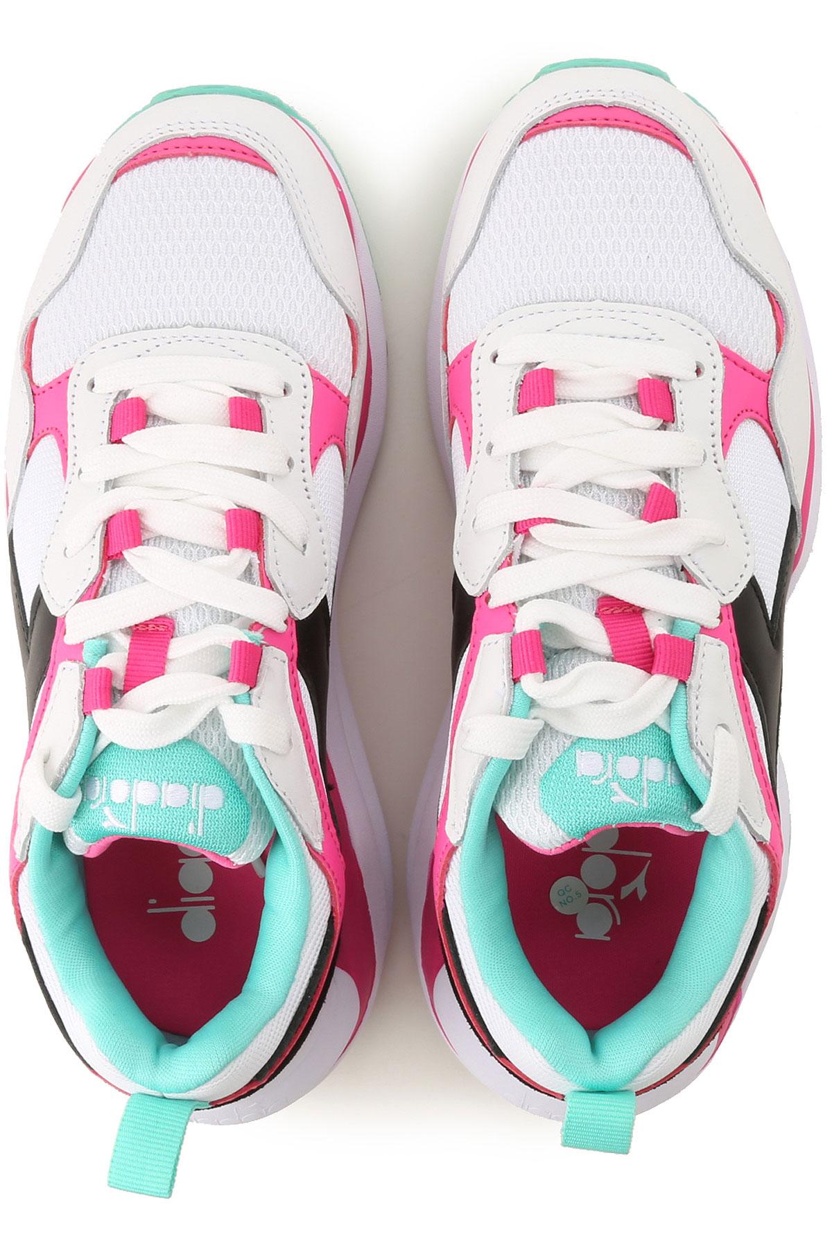 Blanco verano Diadora Fucsia 2019 Zapatos Primavera Para Mujer HwU0Sq