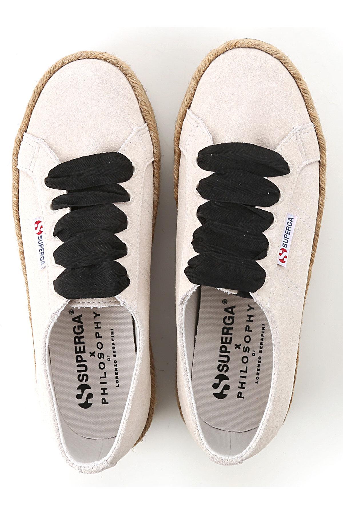 Mujer Para verano nbsp;negro Marfil Zapatos 2019 Soga Primavera Superga 7zHSSw
