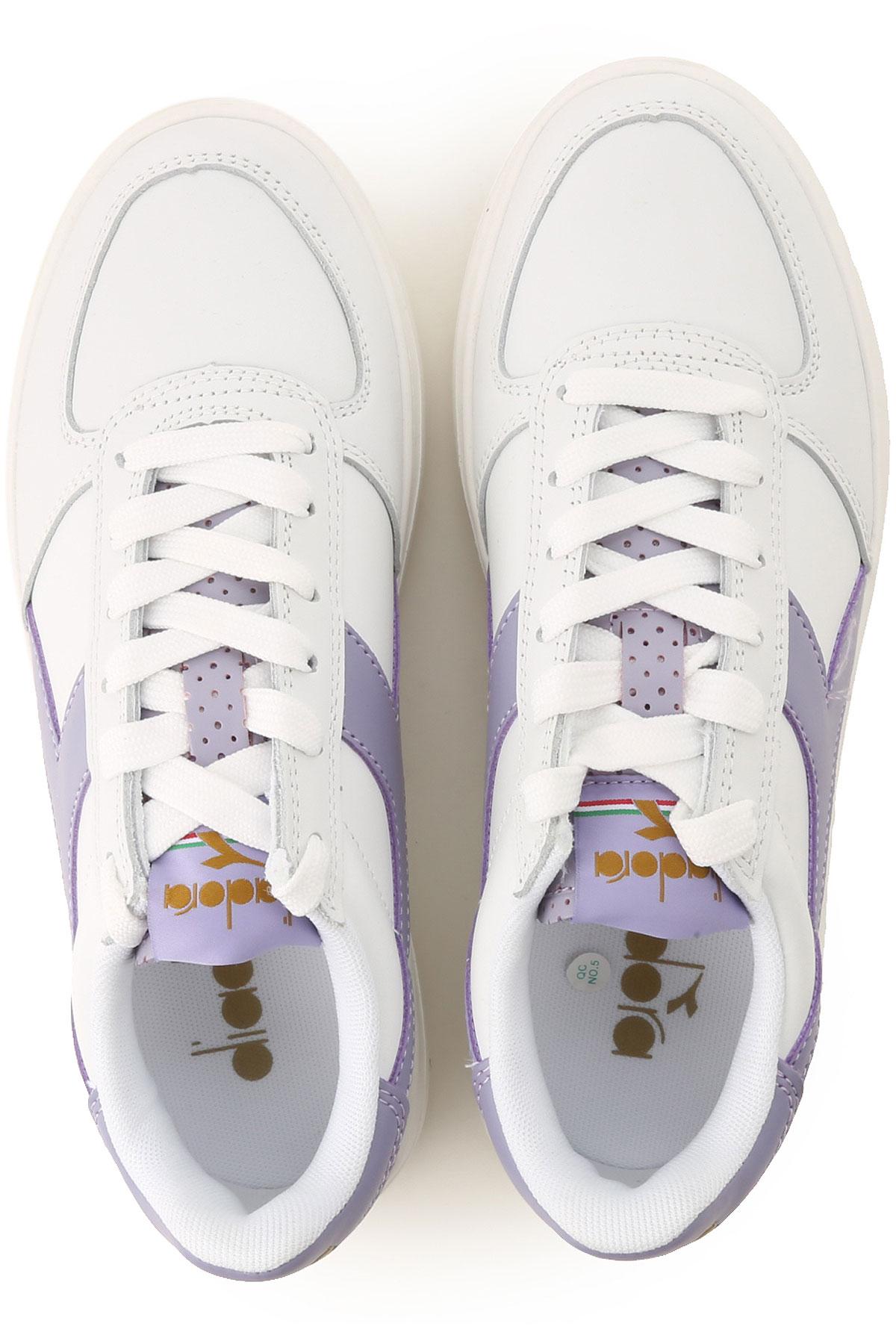 Para 2019 Primavera verano Lila Zapatos Mujer Diadora Blanco ZHqn8Ax