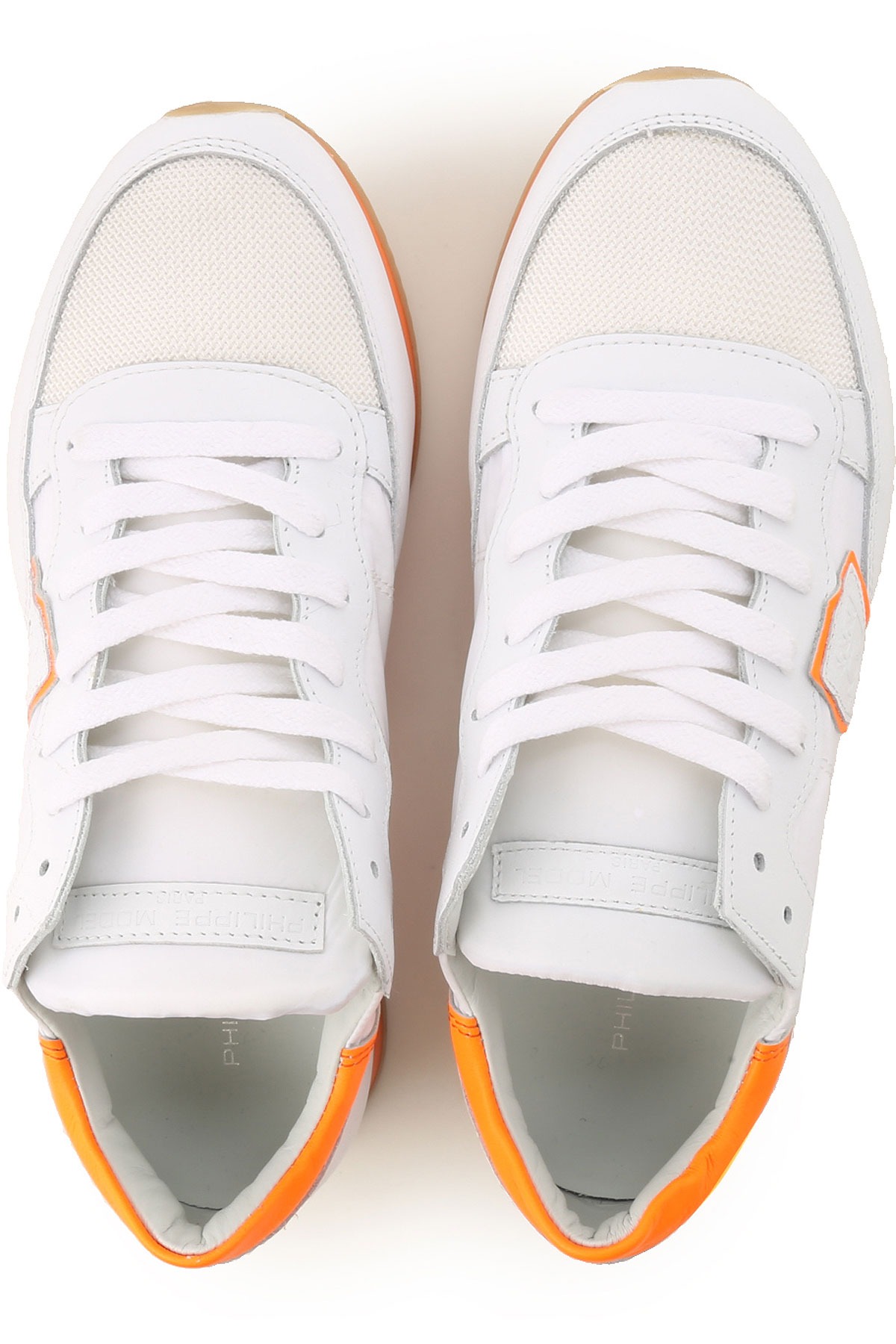 Naranja Fluorescente Mujer Zapatos Blanco Primavera Model 2019 Para Philippe verano pf78wZq4x