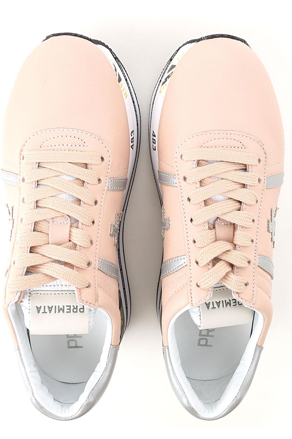 2019 Plata Mujer Primavera nbsp;multicolor Para Suave verano Premiata Zapatos Rosa wXq1XTAU