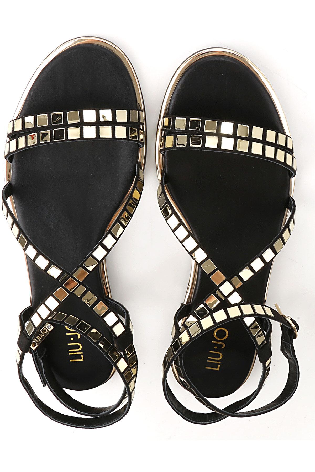 2019 Liu Primavera Jo dorado Para verano Oro Zapatos Mujer Negro 6Tqwp6x
