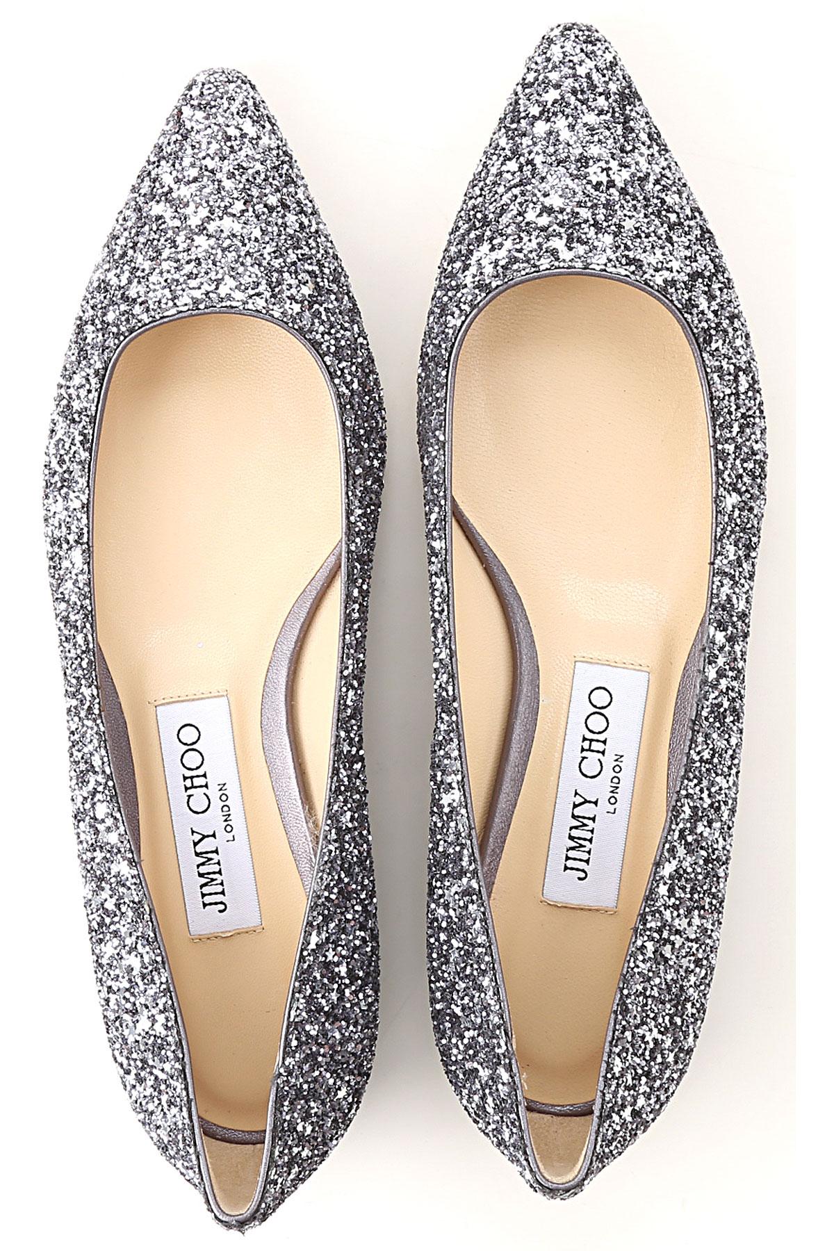 Gunmetal verano Jimmy Primavera Zapatos Choo Glitter 2019 Para Plata Mujer Un4Hxn