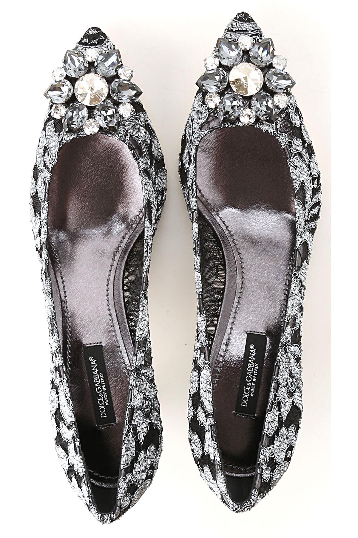 Primavera amp; Negro Gabbana Para Zapatos Plata 2019 Dolce Mujer verano SAFwTTxq
