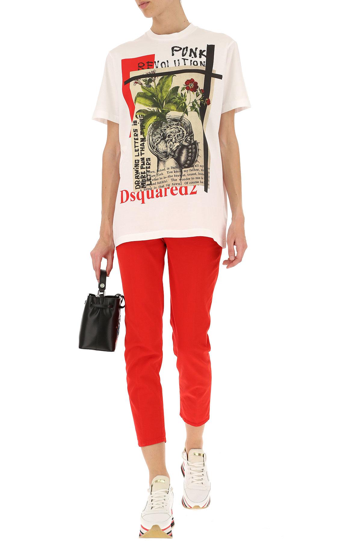 Blanco Primavera Para Ropa nbsp;multicolor 2019 Dsquared Rojo verano Mujer qxvYwatp1