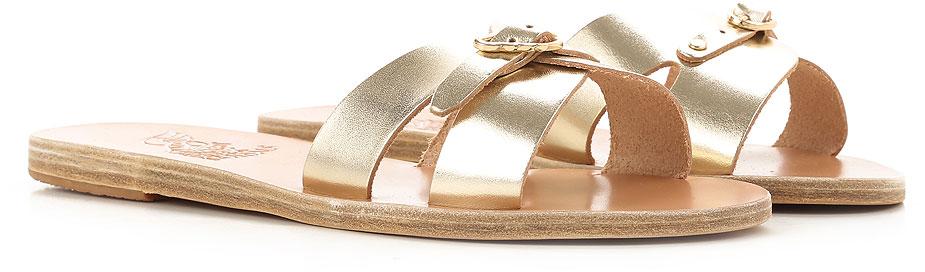 Donna Codice Anna platinum vacchetta Greek Scarpe Sandals Ancient Articolo