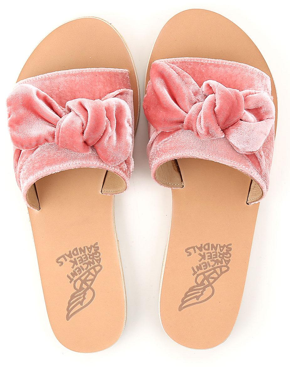 Scarpe Donna Ancient Greek Sandals, Codice Articolo: taygete-bow-velvetdustypink