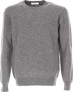 Sweater for Men Jumper On Sale, Dark Blue, Wool, 2017, M Cruciani