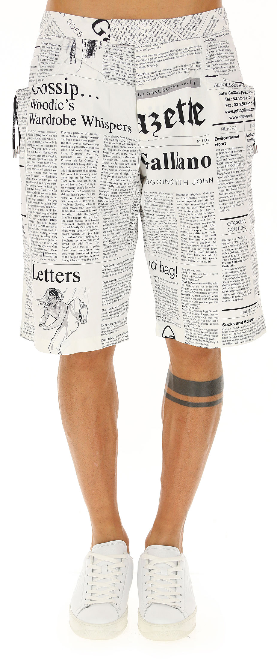 Moda Mare Uomo Galliano, Codice Articolo: n11-h302-bia