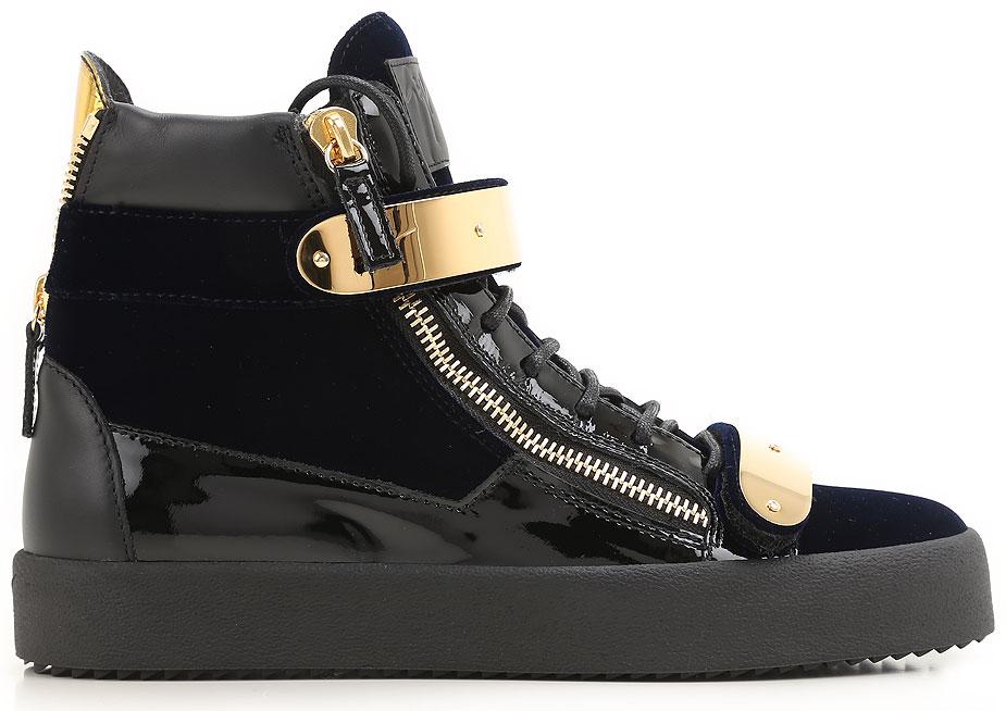 Sneakers for Men On Sale, Navy Blue, Velvet, 2017, 6 6.5 6.75 7 7.5 8 Giuseppe Zanotti