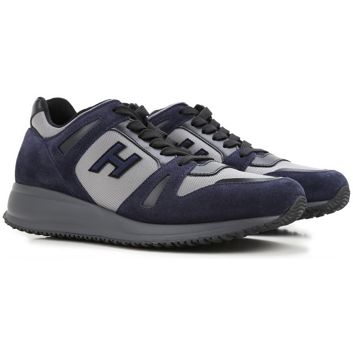 Chaussures De Sport Pour Les Hommes En Vente, Bleu Foncé, Tissu, 2017, 6,5 Hogan