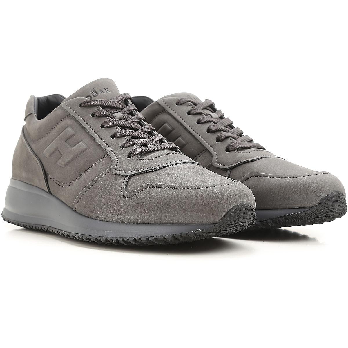 Chaussures De Sport Pour Les Hommes À La Vente, De La Boue Noire, Cuir Suède, 2017, 7 Hogan