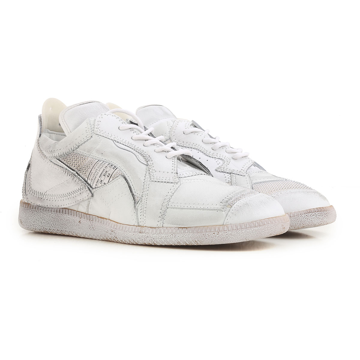 Sneakers for Men On Sale in Outlet, White, Leather, 2017, 10.5 Maison Martin Margiela