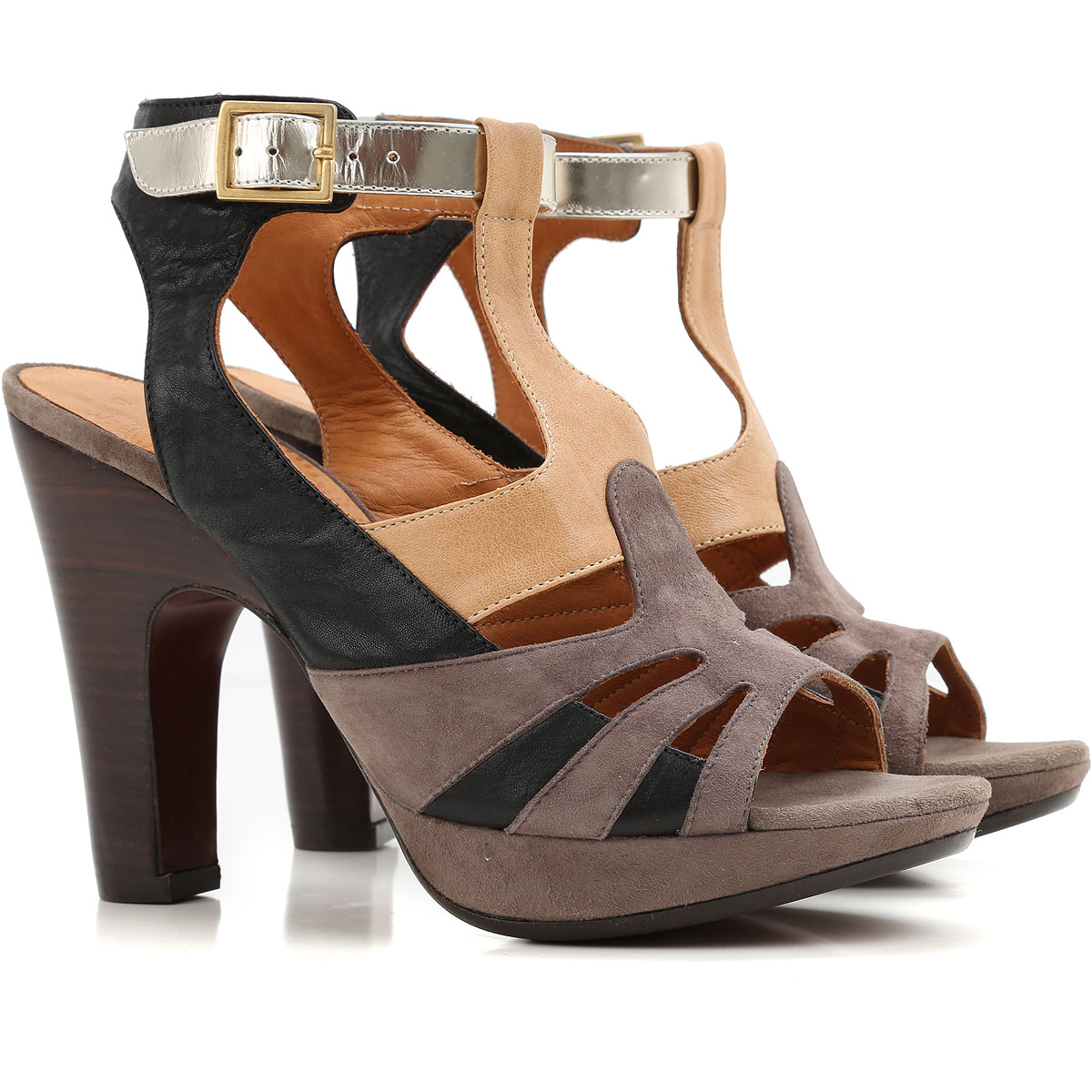 Chie Mihara Women Sandals Taupe Grey Light Antique Rose