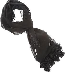Scarf for Women, Black, Wool, 2017, Universal Size Fendi